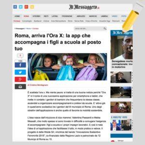 ORA X articolo Messaggero