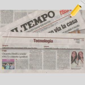 parlano di ORA X sul giornale Il Tempo