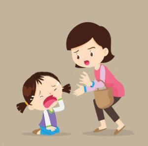 capricci dei bambini mamma e figli