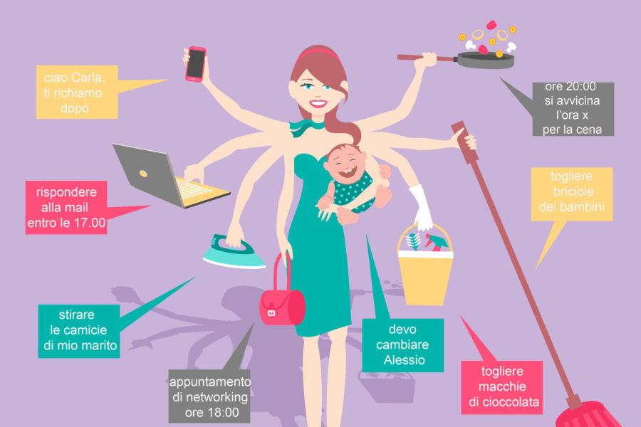 mamma multitasking