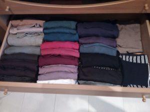 magliette piegate, ordine