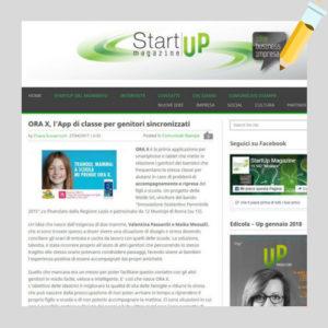 startup magazine e app ora x