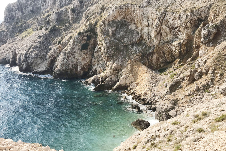 mali bok spiaggia Cres Croazia
